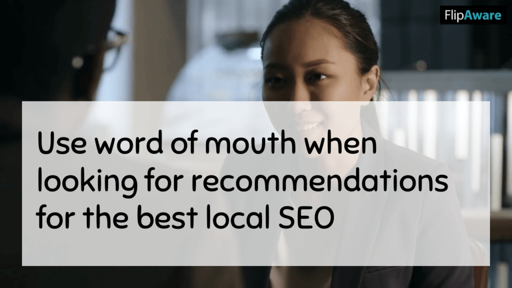 Use word of mouth before you Choose an SEO Company in Markham